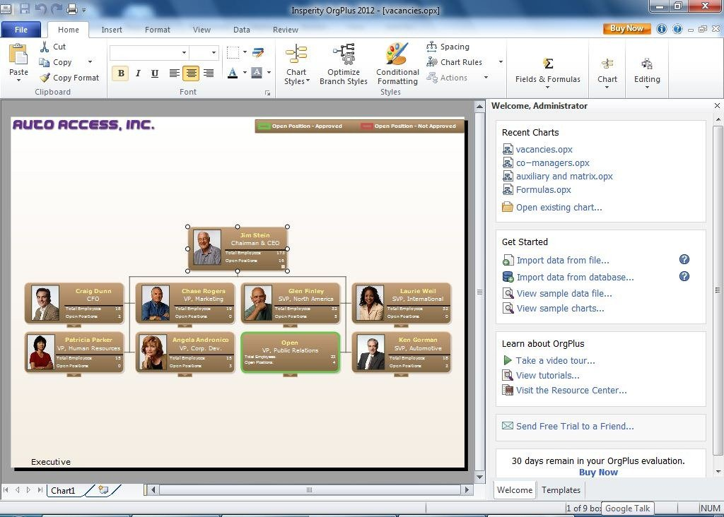 organizational chart with photos - Organizational Chart Free Software