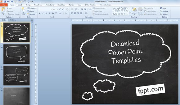 how to create a simple powerpoint blackboard presentation, Modern powerpoint