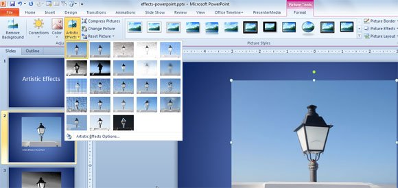 Artistic Effects in PowerPoint 2010