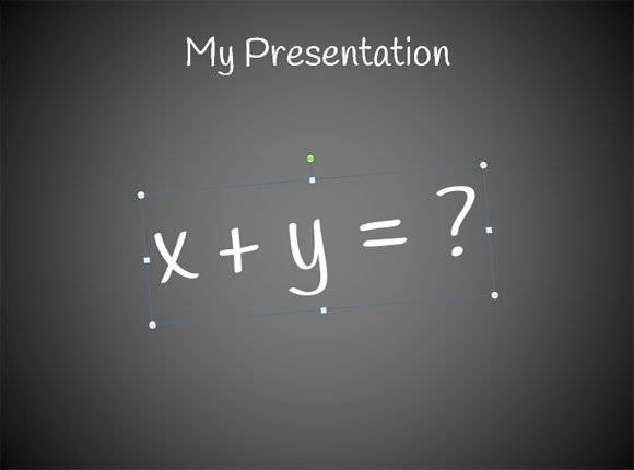 How to create a simple powerpoint blackboard presentation then restart powerpoint and add a textbox using such font you can rotate the text to make it look like written by hand toneelgroepblik