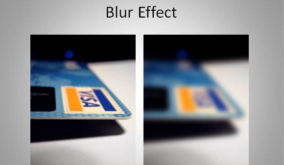 custom blur effect