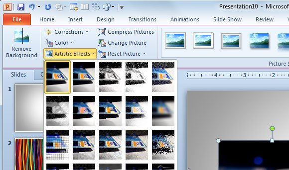 blur effect powerpoint
