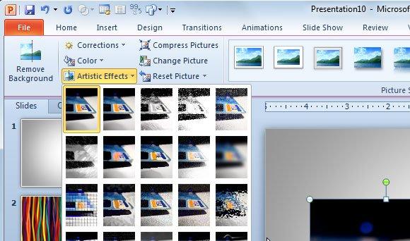 blur effect powerpoint