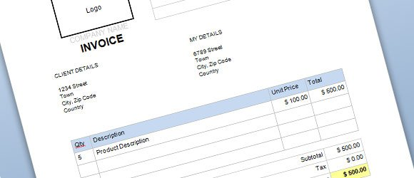 Free Commercial Invoice Template For Word