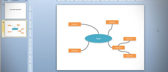 steps to make a mind map presentation with powerpoint, Powerpoint templates