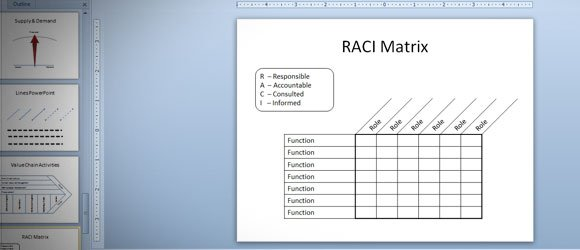 Raci matrix in powerpoint 2010 using tables shapes maxwellsz