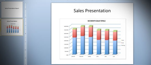 giving a sales presentation