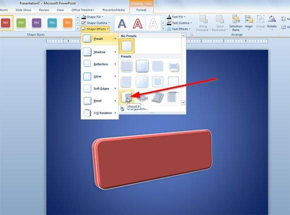 design a skew image in powerpoint 2010