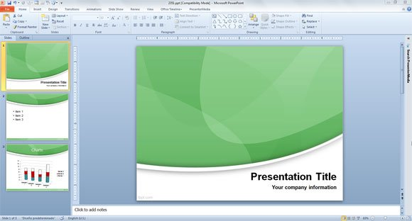 very simple powerpoint template
