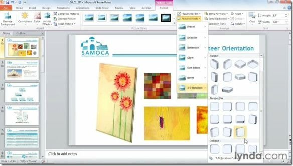 Ceating 3D images in PowerPoint