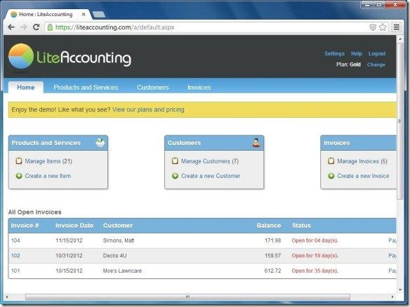 Lite Accounting Dashboard