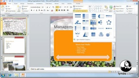 PowerPoint 2010 Shapes Tables And Charts