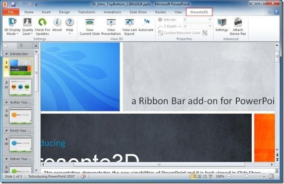 Presente 3D Add-in For PowerPoint