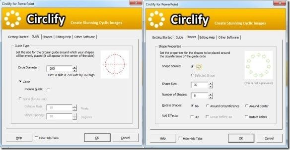 Select Circlify Parameters