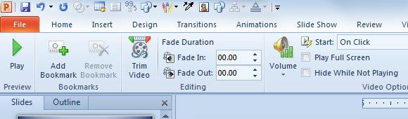 Adding Bookmarks to Videos in PowerPoint 2010