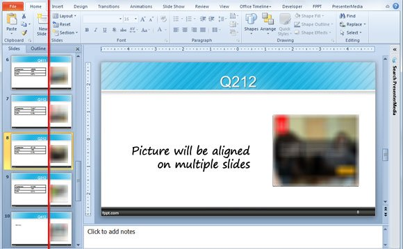 aligning images powerpoint 2010