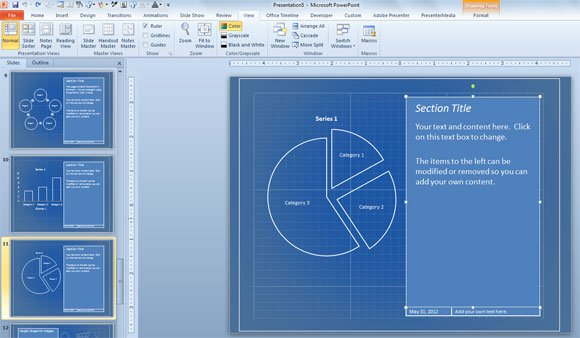 Blueprint templates for microsoft powerpoint presentations moveable template malvernweather Images