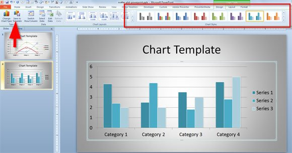 how to create a custom chart template in powerpoint