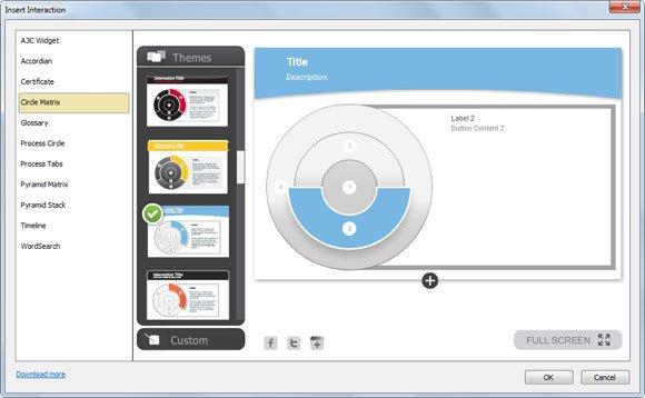 circle matrix powerpoint
