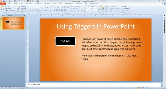 triggers powerpoint