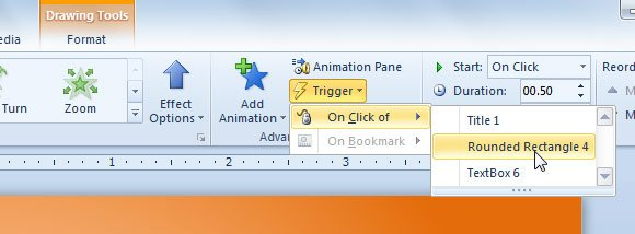 How to use Triggers in PowerPoint 2010