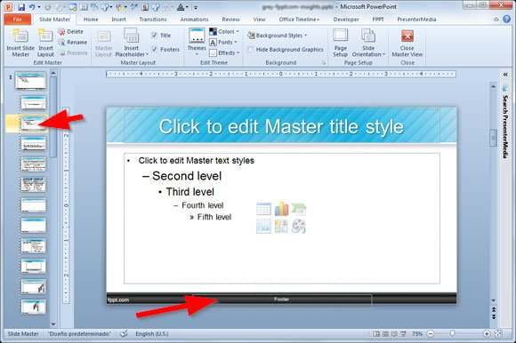Adding a footer to your powerpoint 2010 presentation for How to modify powerpoint template