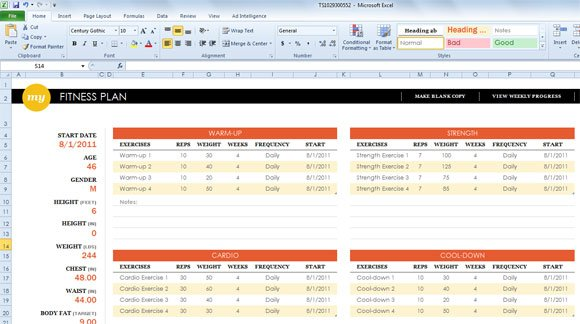 simple sport templates for microsoft excel