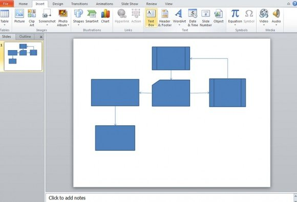 microsoft powerpoint flow chart