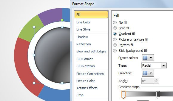 Editable Doughnut powerpoint 2010