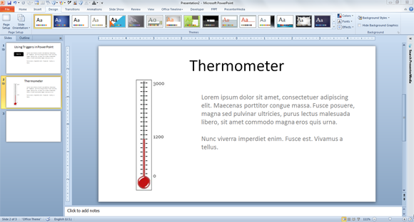 how to make a fundraising thermometer for powerpoint. Black Bedroom Furniture Sets. Home Design Ideas