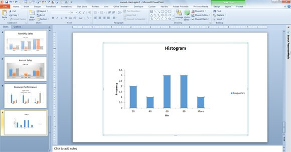 How to make histograms in powerpoint using excel charts histogram example powerpoint 2010 toneelgroepblik