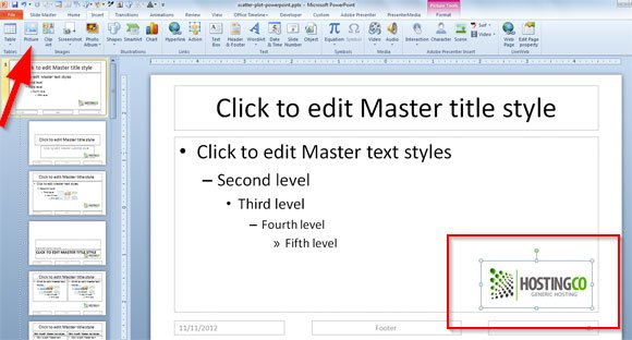 How to insert picture template in powerpoint
