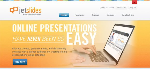 jetslides online presentation builder