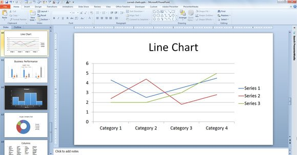 line chart powerpoint example