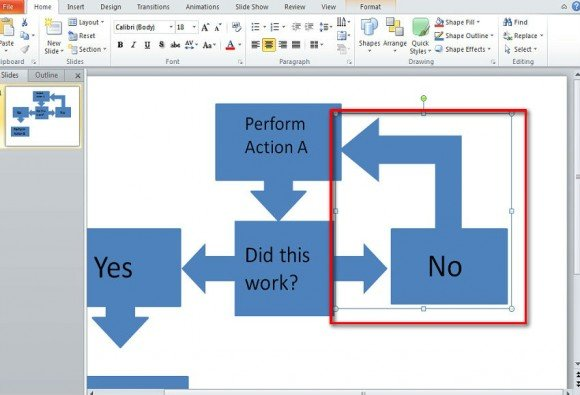 create a flow chart in powerpoint