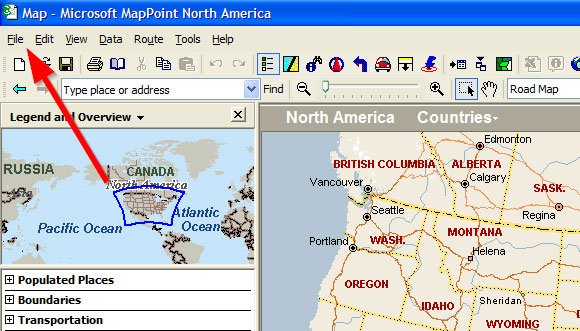 MapPoint to PowerPoint