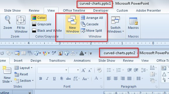 edit a powerpoint presentation in two windows, Presentation templates