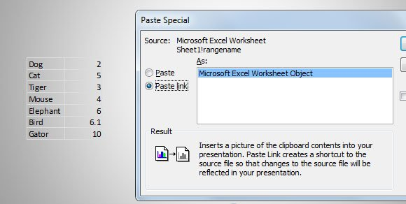 How to copy excel data or charts to powerpoint paste link powerpoint ccuart Image collections