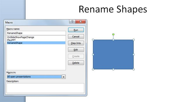 renaming shapes powerpoint