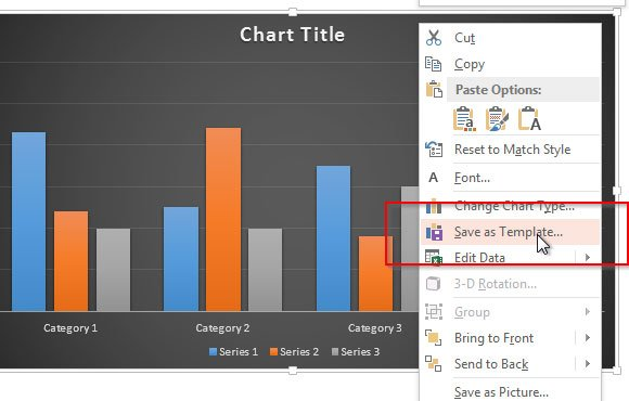 Save chart templates in powerpoint 2013