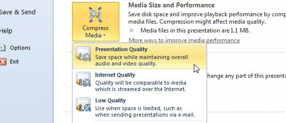 Media Size and Performance in PowerPoint 2010