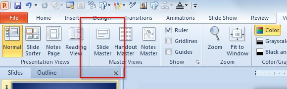 How to Know How Many Slides are using a Layout in PowerPoint 2010