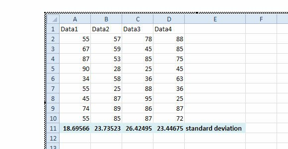 how to add different standard deviation bars in excel