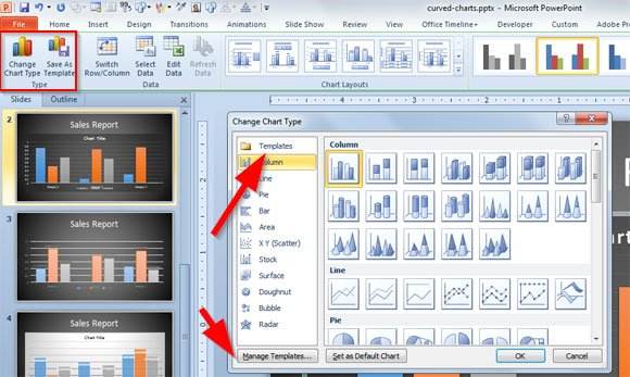 Modernize your powerpoint 2010 charts using the new powerpoint 2013 chart chooser toneelgroepblik