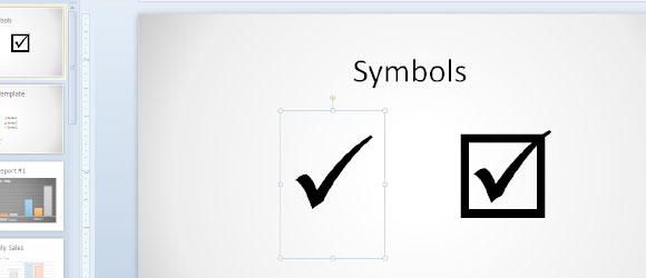 To Insert A Tick Symbol In Powerpoint