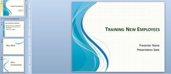 Training New Employees PowerPoint Template or make client presentation designs