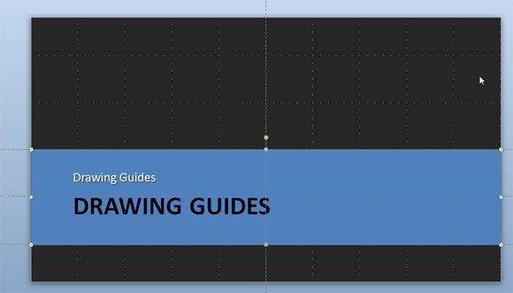 arrange objects screen guide lines powerpoint