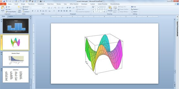 Make 3D Plots for PowerPoint Presentations