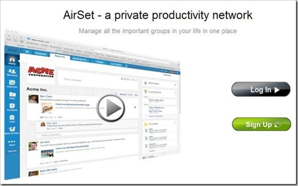 AirSet - AirSet - a private productivity network