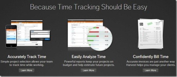 Harvest is a Simple Online Time Tracking Software